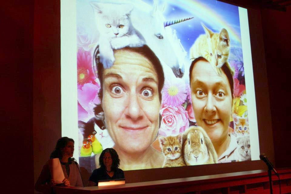 Christy Puetz and Karolina Sussland presenting at SMOCA