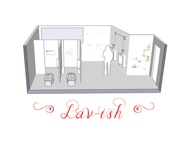 Postcard for the art show Lav-ish